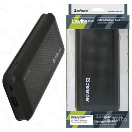 Slika Punjač za mobilne uređaje Powerbank Defender Lavita 10400 - 10400 mAh, 1xUSB, 2A