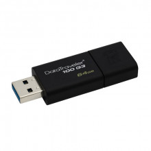 KINGSTON 64GB USB 3.0, DataTraveler 100 Generation 3 - DT100G3/64GB