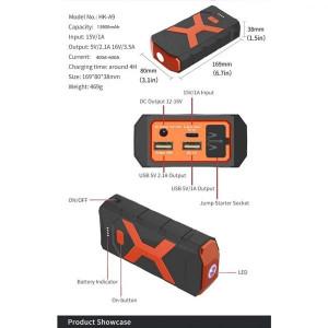 Auto starter HK-A9 13800mAh 12V