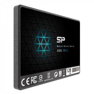 SSD SATA3 128GB 3D NAND SiliconPower A55 550/420Mbs, SP128GBSS3A55S25