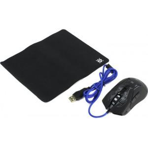 Miš USB Defender Bionic GM-250L Optički 3200dpi Gaming + Podloga, Crna