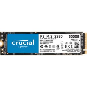 CRUCIAL P2 500GB SSD, M.2 2280, CT500P2SSD8, PCIe Gen3 x4, Read/Write: 2300/940 MB/s, Random Read/Write IOPS: 95K/215K