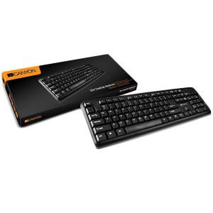 Tastatura CANYON CNE-CKEY01-AD, YU, black, USB
