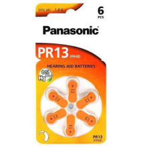 Baterija za slusni aparat Zinc Air dugmasta 1.4V PR13 6/1 blister PANASONIC