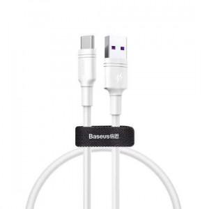 USB data kabal BASEUS DOUBLE RING za Huawei Type C 5A 1m beli