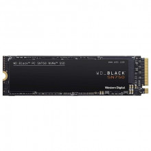 WD Black SN750 NVMe SSD 250GB WDS250G3X0C 250GB, M.2 2280, PCIe, do 3100 MB/s