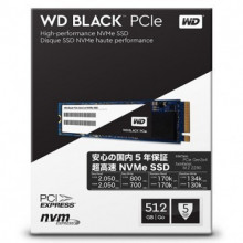 WD SSD Black 512GB, M.2 2280, PCIe Gen3x4 - WDS512G1X0C M.2 2280, PCI-e, 512GB, do 2050 MB/s