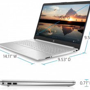 """HP 15-dw1000nw 2B4S1EAR Silver 39.6 cm (15.6"""") FullHD 10th gen Intel® Core i3 8 GB DDR4-SDRAM 256 GB SSD Wi-Fi 5 (802.11ac) Windows 10 Home"""