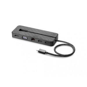 HP Dock USB-C Mini, all USB-C notebooks, Probook, Elitebook G6/G7/G8, no AC adapter (1PM64AA)