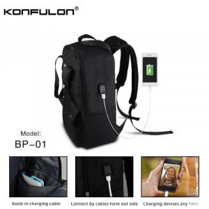 Ranac za laptop KONFULON BP01 Anti-theft sa USB-om crni