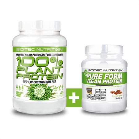 100% Plant Protein + Pure Form Vegan Protein (set)