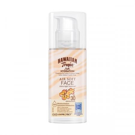 Protectie solara pentru fata Hawaiian Tropic SPF 30 Silk Hydration Face Lotion, 50ml
