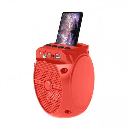Boxa Portabila Karaoke ZQS-1308 cu Radio FM, Bluetooth, USB, MP3/TF-Card, Input Microfon, LED