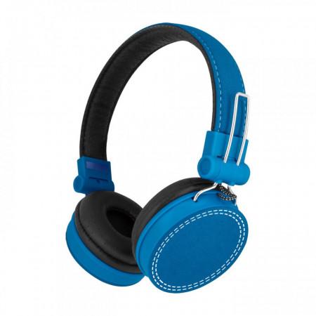 Casti audio SaatchiTech cu fir Jack Detasabil, Microfon incorporat, Culoare Albastra
