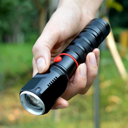 Lanterna LED Tactica Ultrafire CREE T6-WC, cutie verde