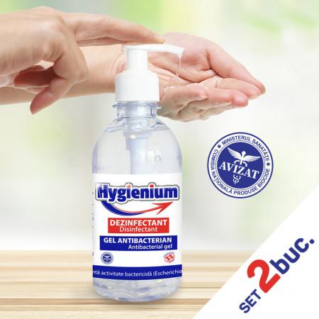 Set 2 bucati - Gel dezinfectant de mâini antibacterian Hygienium 300 ml