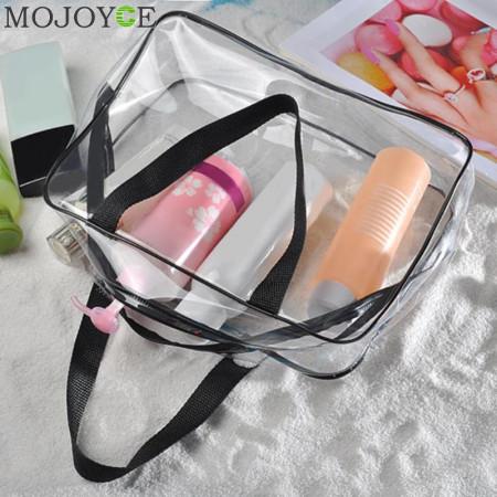Set 3 gentute cosmetice, portfard calatorie/voiaj transparente cu fermoar