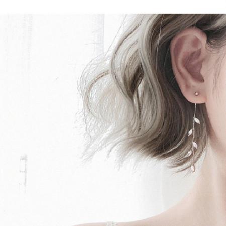Cercei Dama, leaf - argintiu CD023