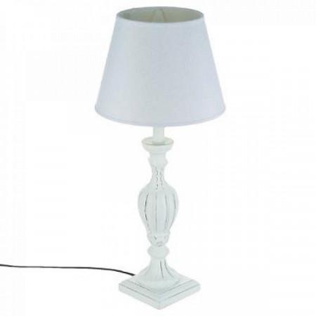 Lampă albă din lemn , alb PM1215743