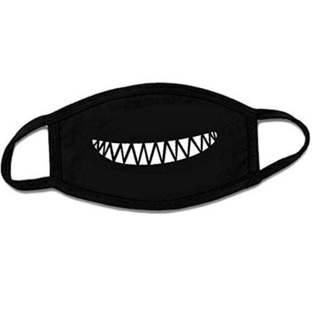 Masca protectie pentru fata Fashion, bumbac, negru