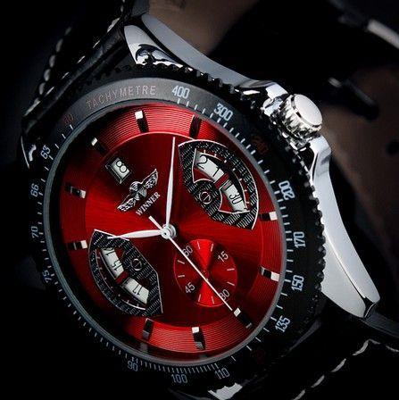 Ceas mecanic full automatic Winner Red P003