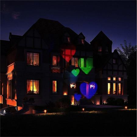 Proiector kwb 12pcs Halloween, Crăciun lumini de peluză impermeabil / creativ / proiector lumină multi culoare 100-240 v iluminat exterior 12 perle led