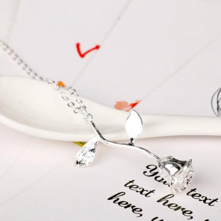 Lantisor Dama Trandafir - argintiu COL151-V1