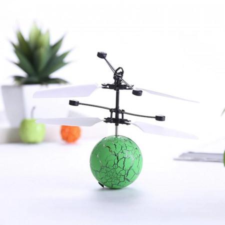 Aeronava - Minge Zburatoare - Magic Ball, Terra Connect, Verde, Led Multicolor, cu Acumulator