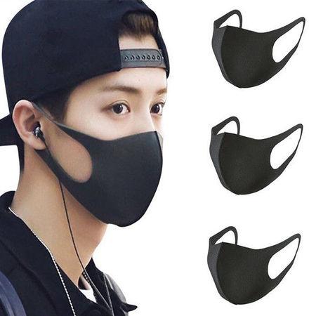 Set 6 buc Masca protectie pentru fata Fashion, negru