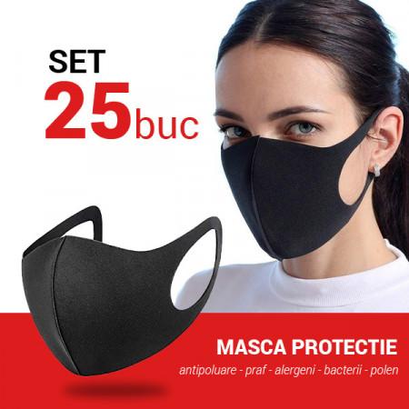 Set 25 buc Masca protectie pentru fata Fashion, negru