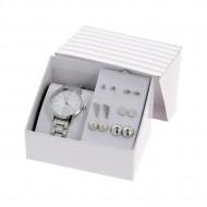 Accesorii Set Cadou - Ceas si Cercei - EXCELANC Culoare Silver EXC004-V1