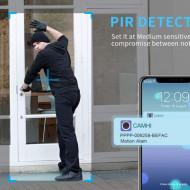 Cameră Wi-Fi în aer liber FHD 1080P, supraveghere wireless H + Y 2.4G WiFi, Camere IP de vizionare nocturnă HD