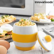 Fierbător de ouă din ceramică pentru microunde cu rețete Eggsira InnovaGoods Kitchen Foodies