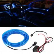 Fir electroluminescent neon El Wire, 5M, Albastru