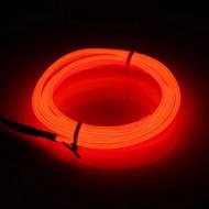 Fir electroluminescent neon El Wire, 5M, Rosu