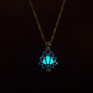 Lantisor Dama luminos Lotus - albastru COL156-V1