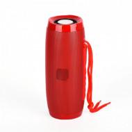 Boxa stereo Bluetooth 157 - Culoare Rosie, Portabila, Radio FM, USB, Aux, TF Card, lumina ambientala multicolora