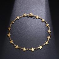 Bratara dama, stars - auriu BR320-V2