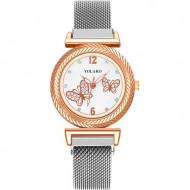 Ceas de Dama, cu inchidere magnetica, Butterfly, Q9603-V2