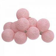 Ghirlanda Led cu baterie ,10 globuri roz PM116415D3