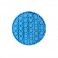 Jucarie Senzoriala Interactiva, Pop It, Bubble, Rotund, Albastru, POP-IT BLUE