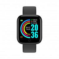 Smartwatch Y68, Fitness Tracker, Bluetooth, Negru
