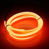 Fir electroluminescent neon El Wire, 5M, Portocaliu