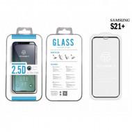 Folie sticla securizată Samsung S21 + 2.5D Full Cover Negru, PM25DSAMSUNGS21+3