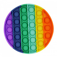 Jucarie Senzoriala Interactiva, Pop It, Bubble, Rotund, Color, POP-IT COLOR