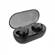 Casti fara fir, in-ear, stereo, Bluetooth 5.0, negru, TWS-C12