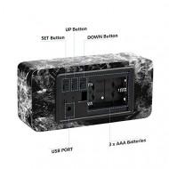 Ceas de birou LED, Multifunctional, Data, Temperatura, Decor Marmura