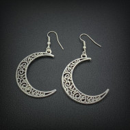 Cercei Dama, silver moon - argintiu CD035