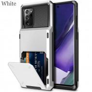 Husa Huawei P Smart 2019 - Book Type Card Holder, alb, HWPS2019-001