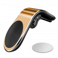 Suport auto universal magnetic pentru telefoane - Vent Gold